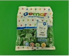 """Воздушные шарики пастель зеленый 5"""" (13 см) 100 шт Gemar (1 пач)"""