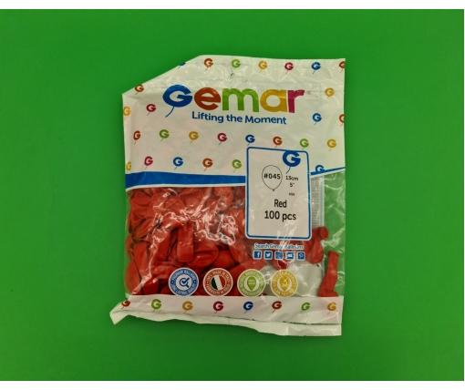 """Воздушные шарики пастель красный 5"""" (13 см) 100 шт Gemar (1 пач)"""