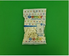 """Воздушные шарики пастель белый  3"""" (8 см) латексные бомбочки 100 шт Gemar (1 пач)"""
