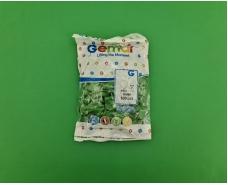 """Воздушные шарики пастель зелёные 3"""" (8 см) латексные бомбочки 100 шт Gemar (1 пач)"""
