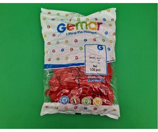 """Воздушные шарики пастель красные 12"""" (30 см) 100 шт Gemar (1 пач)"""