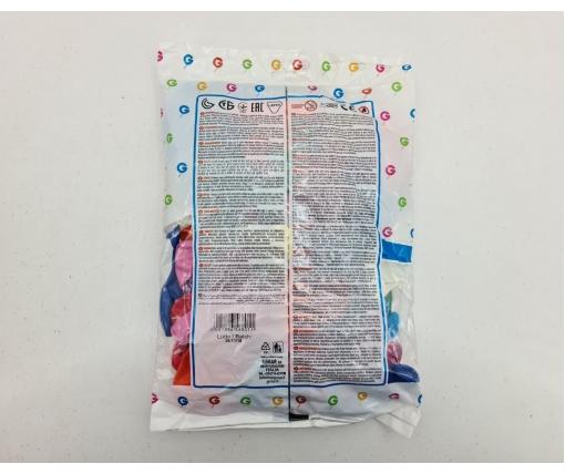 """Надувные шарики в форме сердца пастель ассорти 10"""" (25 см) 100 шт (1 пачка)"""