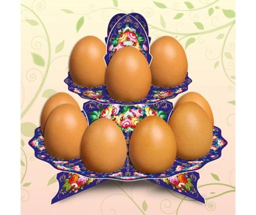 """Декоративная подставка для яиц №12 """"Жостово"""" (12 яиц) высокая (1 шт)"""