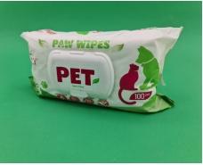 """Влажные салфетки """"BIOLLY"""" для домашних животных с тальком 100 шт (1 пач)"""