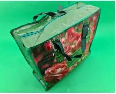 Сумка хозяйственная , полипропиленовая,  с цветным рисунком  №2 Роза (10 шт)