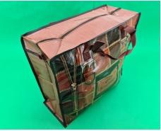 Сумка хозяйственная , полипропиленовая,  с цветным рисунком  №2 Кожа (10 шт)