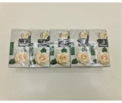 ᐉ Бумажный  носовой платок  2х слойный (Роза) Одесса (10 шт)