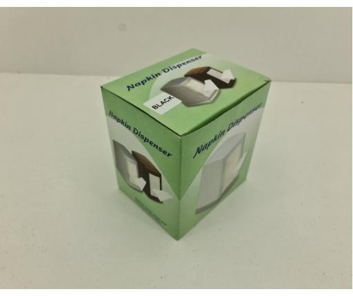 Диспенсер для салфетки 160 шт 3-х сложеная черный L Одесса (1 пач)
