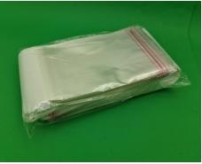 Пакет прозрачный полипропиленовый + скотчк  14,5*20+4\25мк +скотч(+еврослот3,5) (1000 шт)