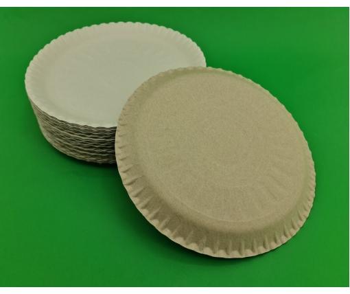 Одноразовые тарелки бумажные   диаметр 250мм (100 шт)