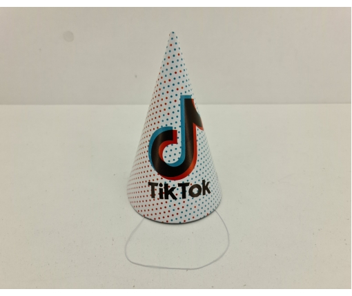 """Колпаки праздничные маленькие 20шт """"Tik-Tok"""" (1 пач)"""