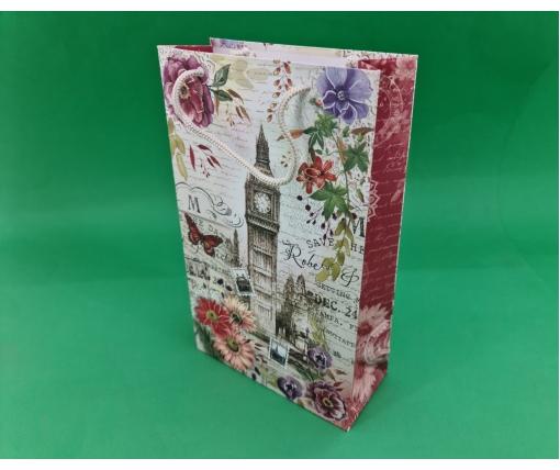 Бумажный пакет подарочный Средний 17/26/8 (артSV-161) (12 шт)