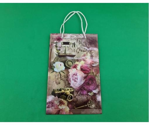 Бумажный пакет подарочный Средний 17/26/8 (артSV-105) (12 шт)