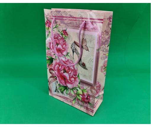 Бумажный пакет подарочный Средний 17/26/8 (артSV-073) (12 шт)