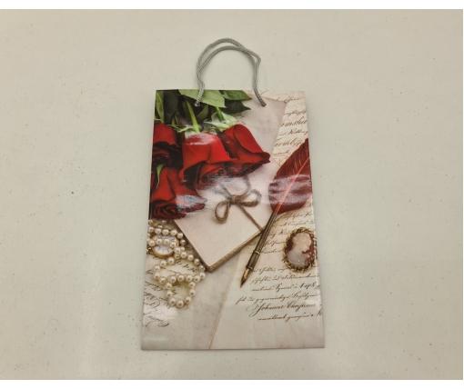 Бумажный пакет подарочный Средний 17/26/8 (артSV-074) (12 шт)