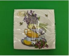 Красивая салфетка (ЗЗхЗЗ, 20шт)  La Fleur  Лавандовое наслаждение (1300) (1 пач)