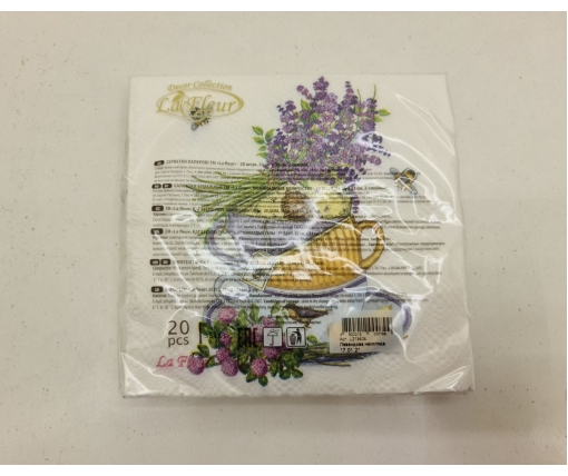 Красивая салфетка (ЗЗхЗЗ, 20шт)  La Fleur  Лавандовое наслаждение (1300) (1 пачка)