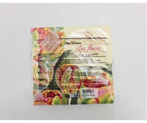 Дизайнерская салфетка (ЗЗхЗЗ, 20шт) Luxy  Красочный цвет тюльпанов (2085) (1 пач)