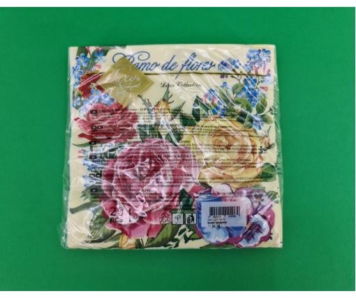 Дизайнерская салфетка (ЗЗхЗЗ, 20шт) Luxy  Букет любви (2083) (1 пач)