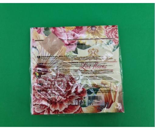 Дизайнерская салфетка (ЗЗхЗЗ, 20шт) Luxy  Удивительные летние цветы (2079) (1 пач)
