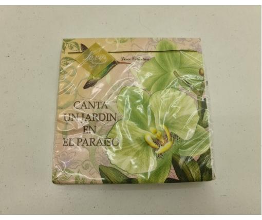 Дизайнерская салфетка (ЗЗхЗЗ, 20шт) Luxy  Колибри в саду орхидей (2084) (1 пач)
