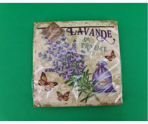 Дизайнерская салфетка (ЗЗхЗЗ, 20шт) Luxy  Лованда из Прованса (2058) (1 пачка)