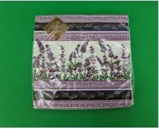 Дизайнерская салфетка (ЗЗхЗЗ, 20шт) Luxy  Ловандовая скатерть (2090) (1 пач)