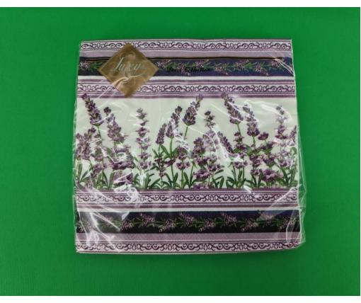 Дизайнерская салфетка (ЗЗхЗЗ, 20шт) Luxy  Ловандовая скатерть (2090) (1 пачка)