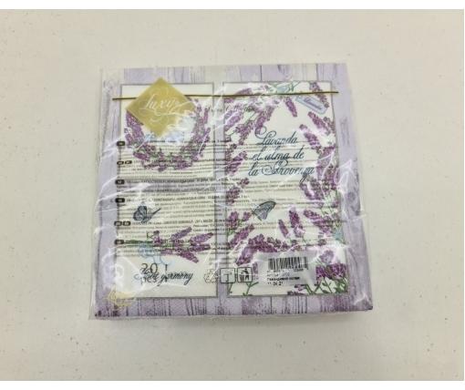 Дизайнерская салфетка (ЗЗхЗЗ, 20шт) Luxy  Ловандовий коллаж (2049) (1 пач)