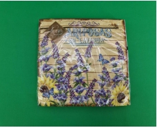 Дизайнерская салфетка (ЗЗхЗЗ, 20шт) Luxy  Ловандовий сад (2056) (1 пач)