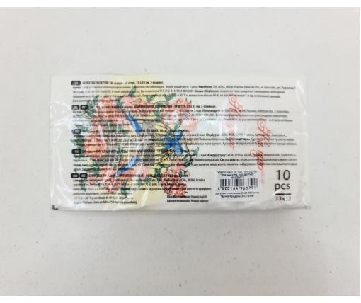 Красивая салфетка (ЗЗхЗЗ, 10шт) Luxy MINI К счастью на долю (2038) (1 пач)