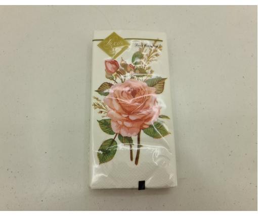 Красивая салфетка (ЗЗхЗЗ, 10шт) Luxy MINI Бутоньерка из роз (2031) (1 пачка)