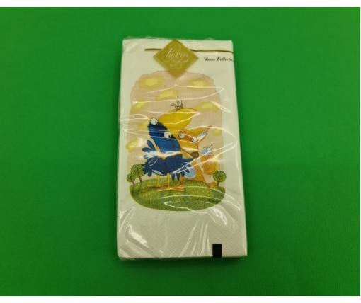 Красивая салфетка (ЗЗхЗЗ, 10шт) Luxy MINI Ворона и Лис (2033) (1 пач)