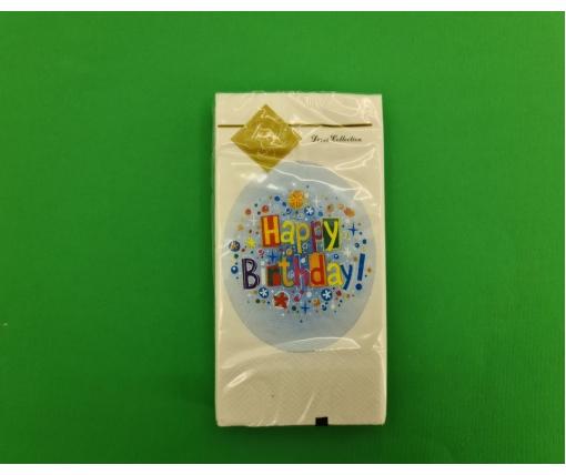 Красивая салфетка (ЗЗхЗЗ, 10шт) Luxy MINI День рождения (2034) (1 пачка)
