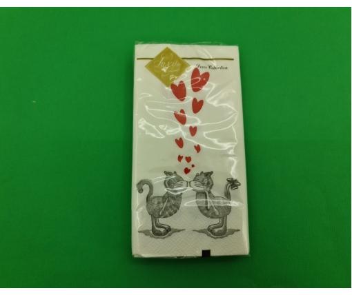 Красивая салфетка (ЗЗхЗЗ, 10шт) Luxy MINI Кошачья любовь (2030) (1 пачка)