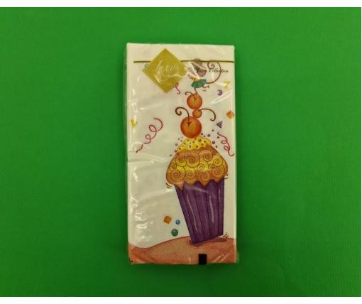 Красивая салфетка (ЗЗхЗЗ, 10шт) Luxy MINI Праздник и мышки (2045) (1 пачка)