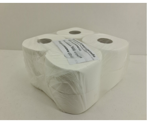 Бумага туалетная  белая (а8*500) Примьер ДЖАМБО (8 пачка)