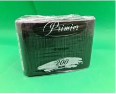 Салфетка бумажная 200лист Премьер 2-ух слойные Черная 33x30 (1 пач)