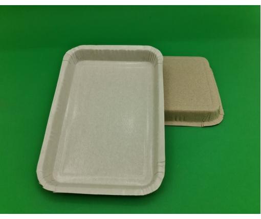 Бумажный лоток 150*215мм(220) белый ЛАМИНАТ (100 шт)