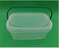 Ведро прямоугольное  с крышкой 3.1 л, прозрачное (100 шт)