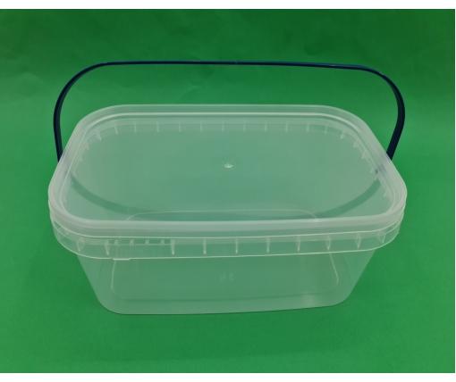 Ведра с крышкой  пластиковые пищевые 3,3 литра круглое прозрачное