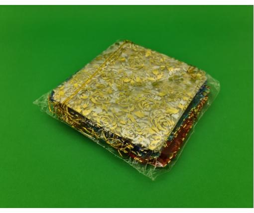 Мешочек из органзы 15*15 ассорти (20 шт)
