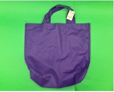 Сумка со складным боком фиолетовая (спанбонд) 35х45 см (1 шт)