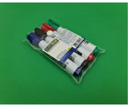Набор маркеров для доски 4 цвета Buromax (1 пач)