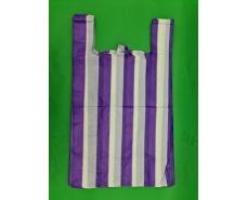 Пакет майка полиэтиленовая 50мкм Полоса (43х75) №4 (100 шт)
