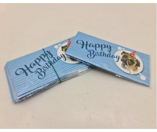 "Конверт для денег ""Happy Birthday"" 3 (10 пачка)"