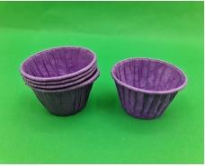 Бумажные пергаментные формочки с усиленным бортиком (фиолетовая)(50шт) 45 х 45мм (1 уп.)