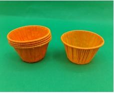 Бумажные пергаментные формочки с усиленным бортиком (оранжевая)(50шт) 45 х 45мм (1 уп.)