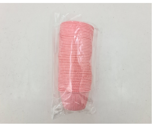 Бумажные пергаментные формочки с усиленным бортиком (розовая)(50шт) 45 х 45мм (1 уп.)
