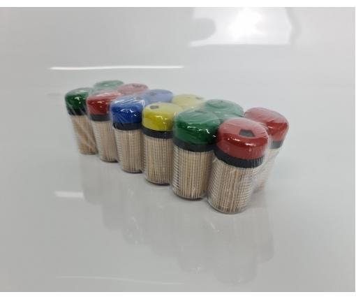 Зубочистка деревянная двусторонняя в жесткой упаковке 250шт(а12)  (1 пачка)